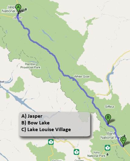 how to go to lake louise from banff