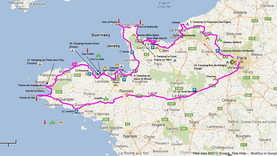 Tour della Normandia e della Bretagna